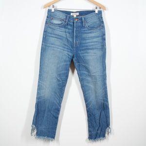 Madewell Rivet & Thread Medium Wash Raw Hem Jeans